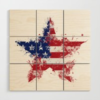Artistic LXXXIX - Americana Star III Wood Wall Art by tmarchev