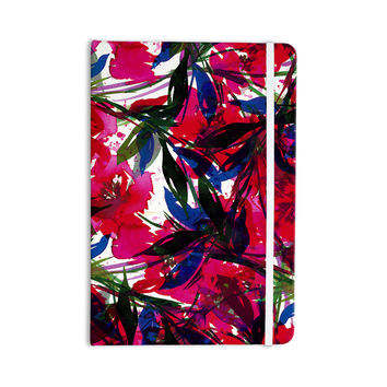 "Ebi Emporium ""Floral Fiesta - Red"" Blue Maroon Everything Notebook"