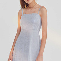 Kimchi Blue Rae Poplin Straight-Neck Dress | Urban Outfitters