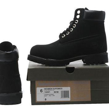 PEAPON Timberland Rhubarb Boots All Black Waterproof Martin Boots