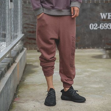 Men's Fashion Autumn Hip-hop Pants Weathered Casual Sportswear [7929374851]