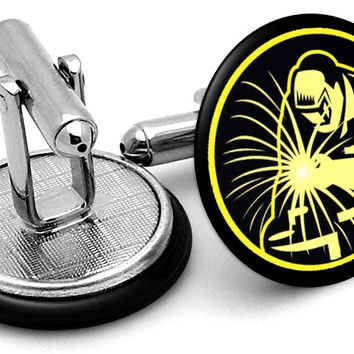 Welder Metalwork Cufflinks