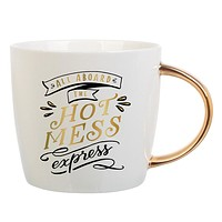"""SLANT COLLECTIONS """"ALL ABOARD THE HOT MESS"""" MUG"""