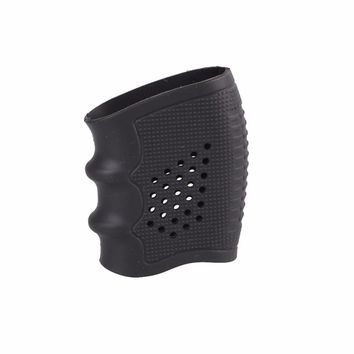 Tactical Slip On Rubber Cover Hand Grip Glove Anti Slip Sleeve For Pistol Handle