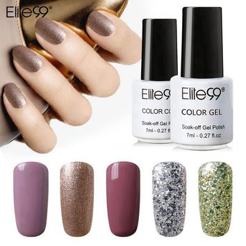 Elite99 7ml Nail Polish Gorgeous Color Nail Gel Polish Vernis Semi Permanent Gel Lacquer Soak Off Nail Varnishes Gelpolish