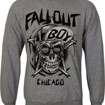 Fall Out Boy Skull Men's Grey Sweatshirt - Buy Online at Grindstore.com