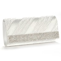 Anladia Women's Diamante Frill Clutch Women Chain Purse Party Bag Wedding Hand Carry Bag