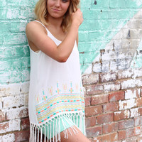 Binge on Fringe Tank {White}