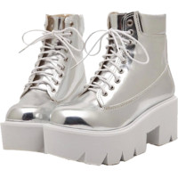 Metallic High Boots