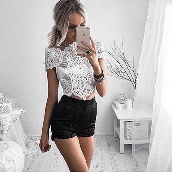 White Lace Boho Top