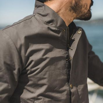The Bomber Jacket in Charcoal