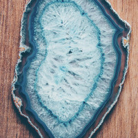 Blue Agate #woodbackground by Andrea Anderegg Photography
