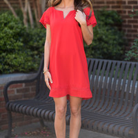 Ready For Fun Dress, Poppy Red