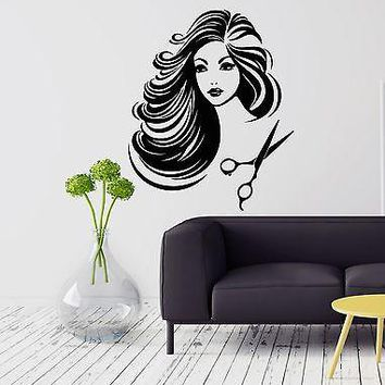 Wall Vinyl Sticker Decal Hair Salon Barber Barbershop Stylist Beauty Unique Gift (ig2097)