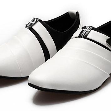 Leather Oxfords Fashion Pointed Dress Shoes