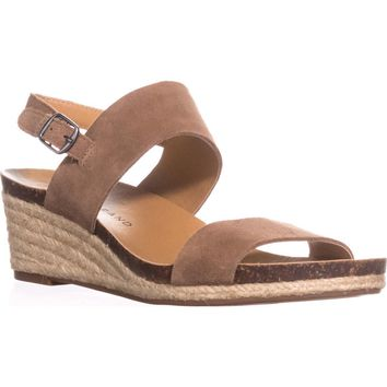 Lucky Brand Jette Espadrile Wedge Sandals, Sesame, 6 US / 36 EU