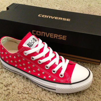Star Studded Converse Shoes by DonishDesigns on Etsy