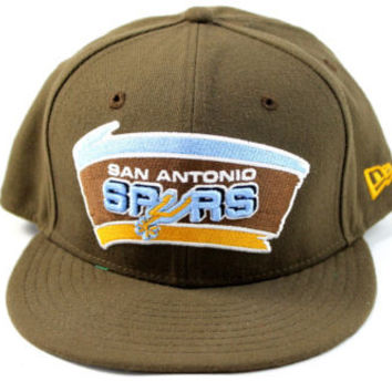 New Era San Antonio Spurs Basic Brown Fitted Hat 7 3/8