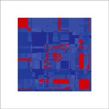 Boogie #3 Red on Blue Michael Banks Art Print