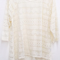 Plus Size Lace Raglan Top