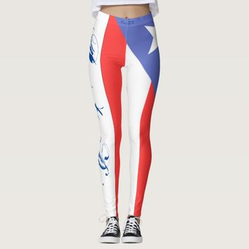 PUERTO RICAN FLAG LEGGINGS HAVIC ACD