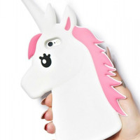 Unicorn Rubber Phone Case (White)