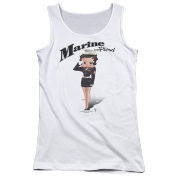 Betty Boop - Marine Boop Juniors Tank Top