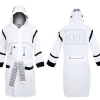 Star Wars Storm Trooper Costume Hooded Adult White Bathrobe - Star Wars - | TV Store Online