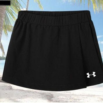 ONETOW Under Armour Driving Skill Running Skirt Fitness Beach Beach Beach Yoga Pants Black