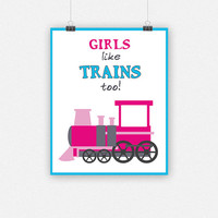 Girls like TRAINS too!