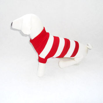 Lovely Cute  Colors Stripe Pet Dog Clothes Apparel Warm Coat Sweater Size M