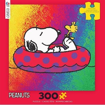Peanuts Snoopy Woodstock Raft 300 pcs Puzzle Ceaco New with Box