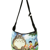 Studio Ghibli My Neighbor Totoro Fishing Scene Hobo Bag