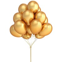 PuTwo 100 Pack 12 Inches Gold Color Latex Party Balloons – Party Decoration and Accessories