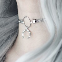 Night Stalker Crescent Moon Choker *Colour Selection by Shop Dixi