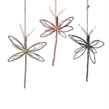 6 Christmas Ornaments - Dragonfly