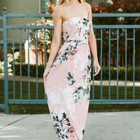 Pink Blossoms Maxi Dress