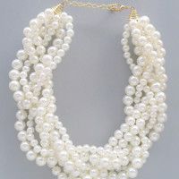elegant Audrey Pearl Necklace