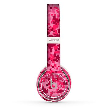 The Hot Pink Digital Camouflage Skin Set for the Beats by Dre Solo 2 Wireless Headphones