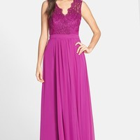 Women's JS Boutique Lace & Chiffon Gown