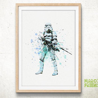 Stormtrooper, Star Wars - Watercolor, Art Print, Home Wall decor, Watercolor Print, Star Wars Poster