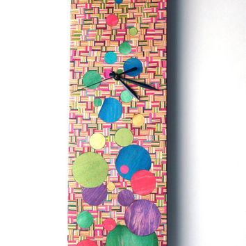 Recycled Skateboard Clock - Made in Canada