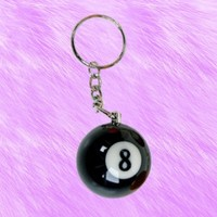8 Ball Keychain from ☯ harajuku alien ☯