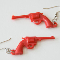 Red Gun Earrings