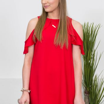 Red Hot Flutter Party Dress