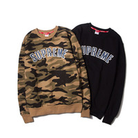 """Supreme"" Unisex Fashion Camouflage Sweatshirt Tops Hoodies"