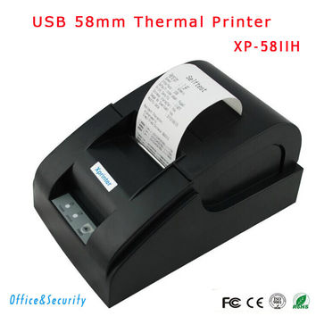Original high USB port 58mm thermal Receipt printer Low noise mini Pos Xprinter XP-58IIH