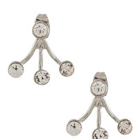 Silver Triple Jewel Earrings - My Jewel Candy