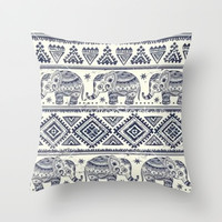elephant love. Throw Pillow by Pink Berry Patterns