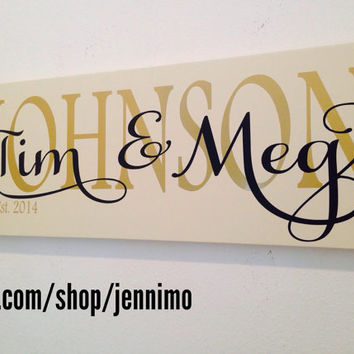Wood Wall Hanging Established Mr. & Mrs. Sign Wedding Engagement